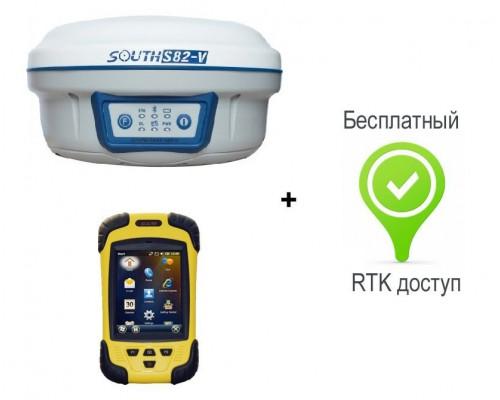 Комплект South S82-V с контроллером S10 + RTK доступ